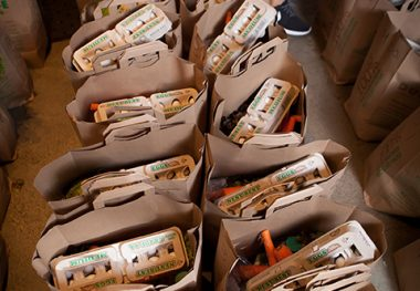 Working Families, Grandparents Use the Food Bank