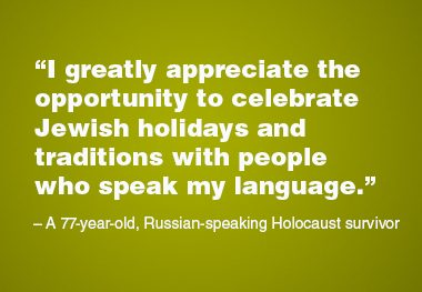 Russian-Speaking Older Adults and Jewish Holiday Celebrations