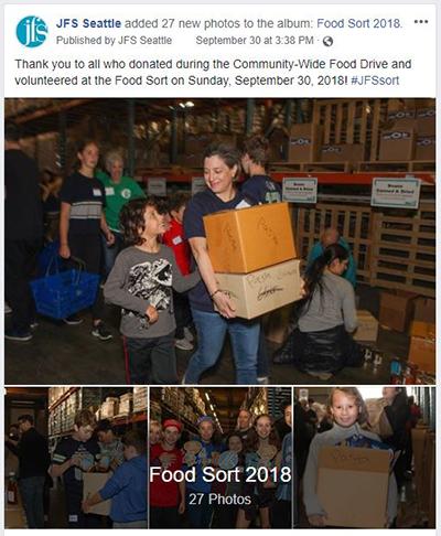 Facebook Photo Album - Food Sort 2018